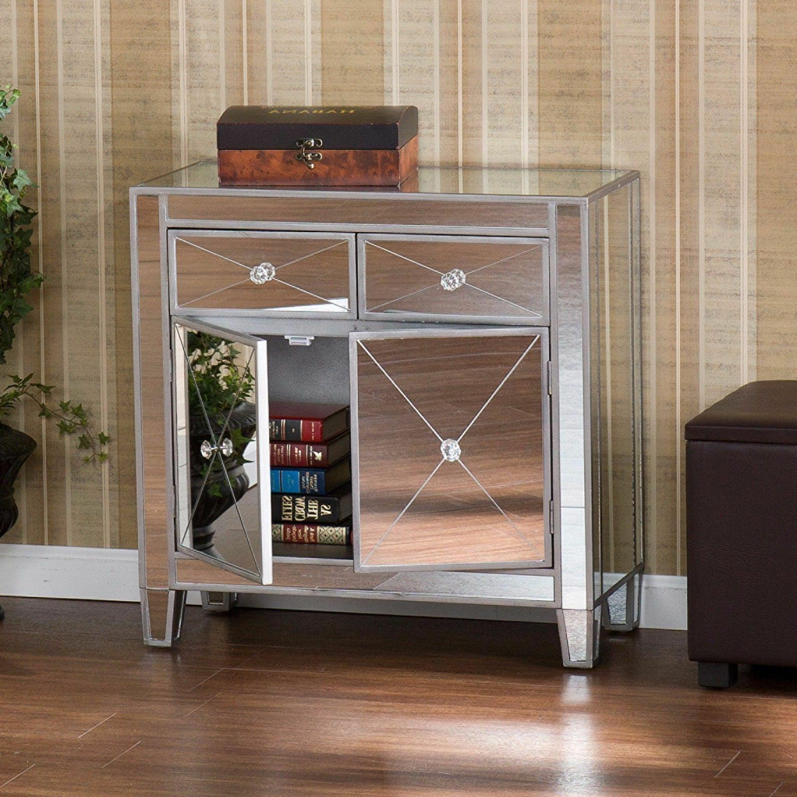 mirrored storage cabinet drawers dresser chest table