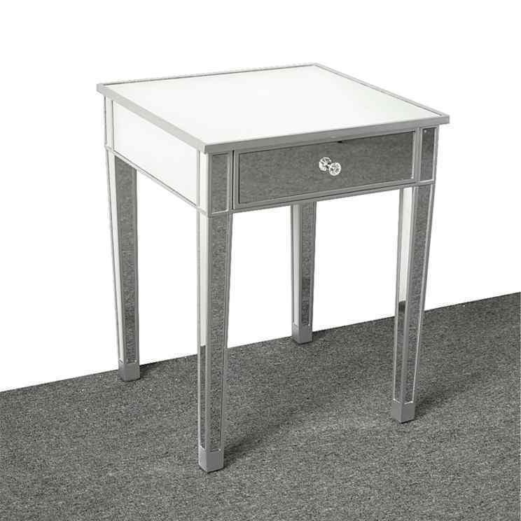 Modern Contemporary Large Drawer Nightstand Table Square