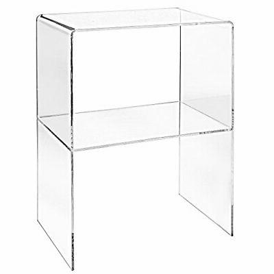 Modern Design Clear Decorative End Table/Home Display Nightstand