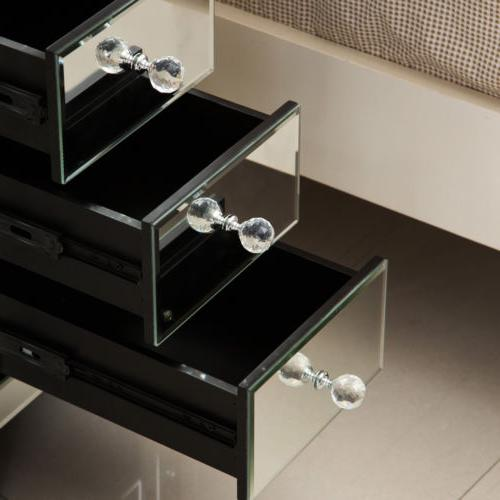Modern mirrored Crystal 3 Side Table