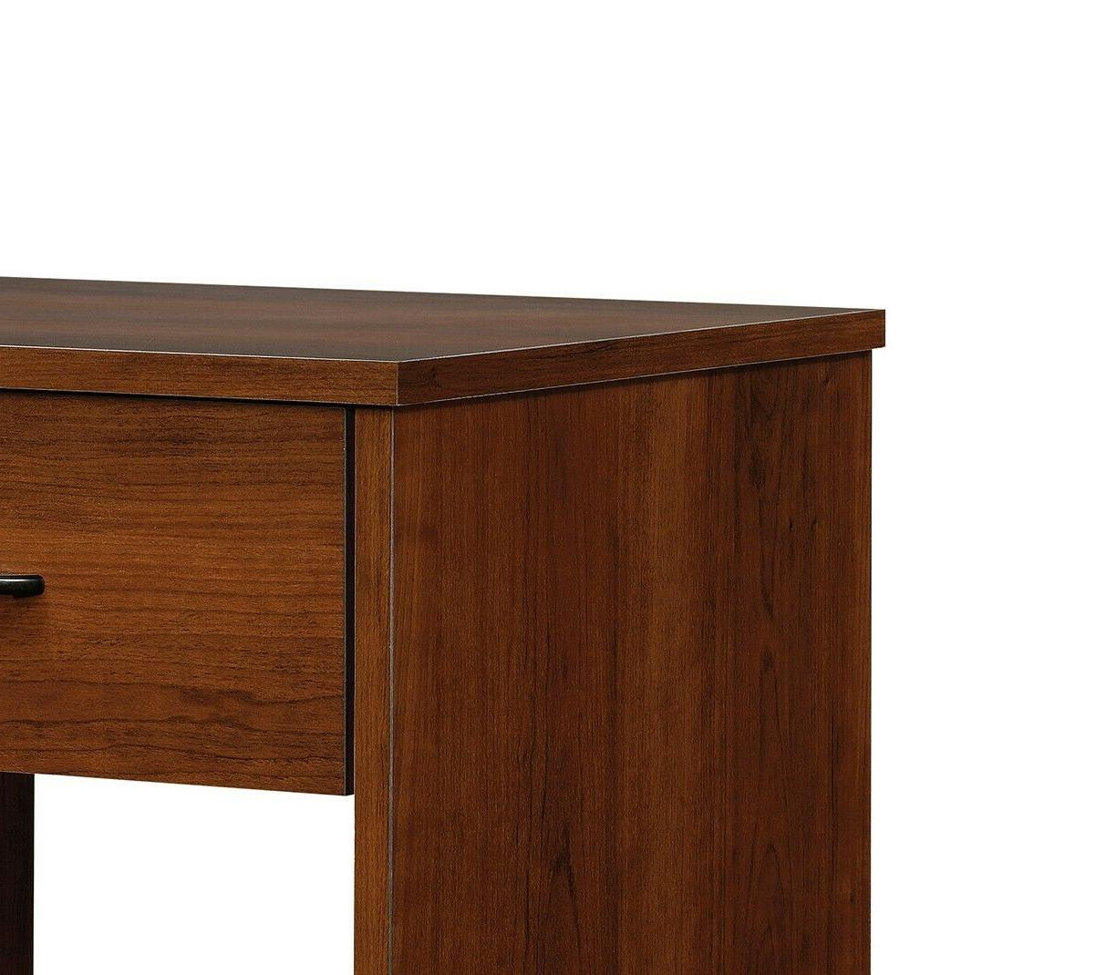 Modern Night Stand Side Lamp Table Wood Simple Brown