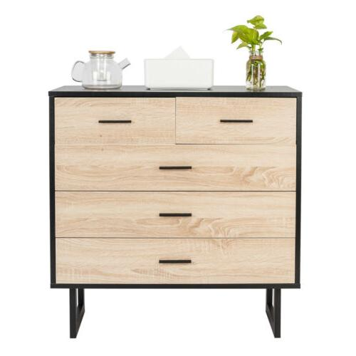 4-Tier Wood Nightstand Bedside Table Night Stand Bedroom End