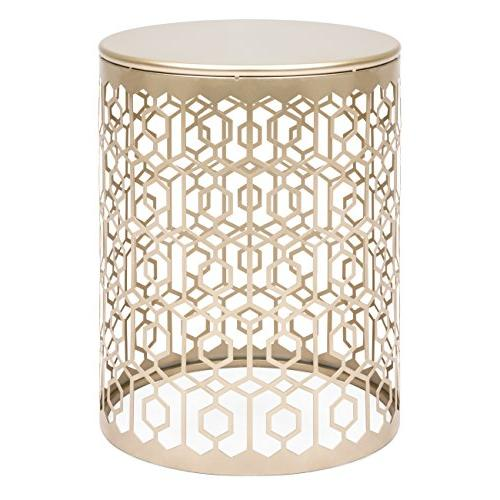 Best of 2 Outdoor Decorative Nesting Nightstands Room, Balcony Gold