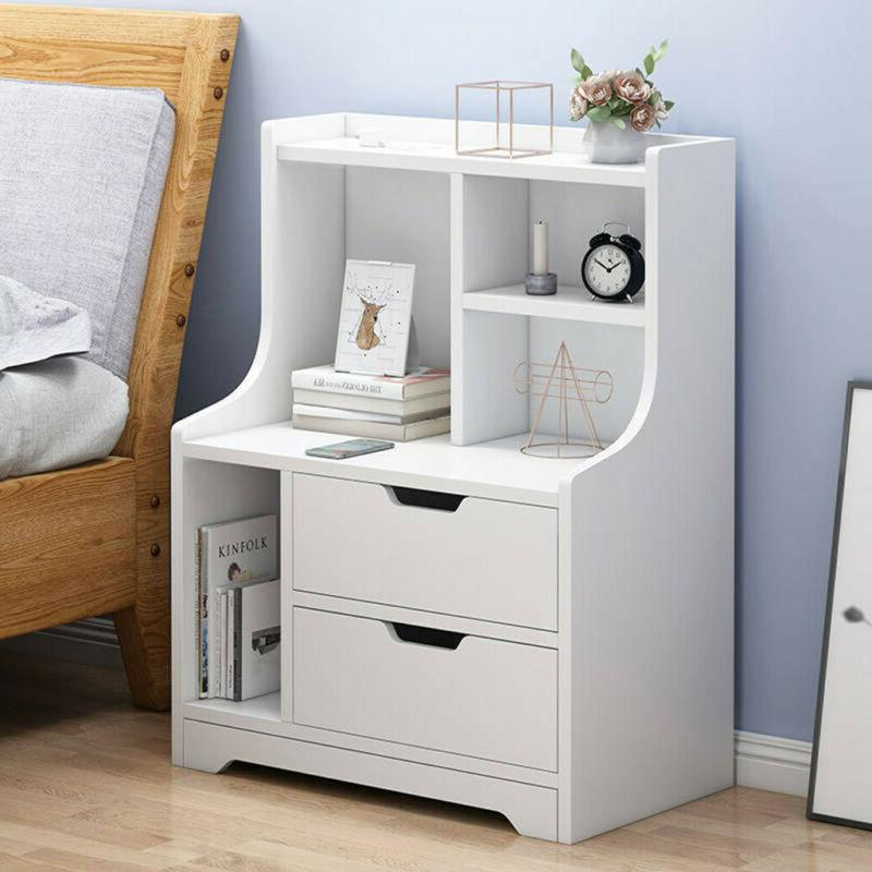 End Side Table Modern Night Stand Bedside Table Desk W/ Draw