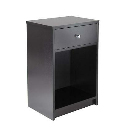 Night Stand W/Drawer End Organizer Bedroom Nightstand
