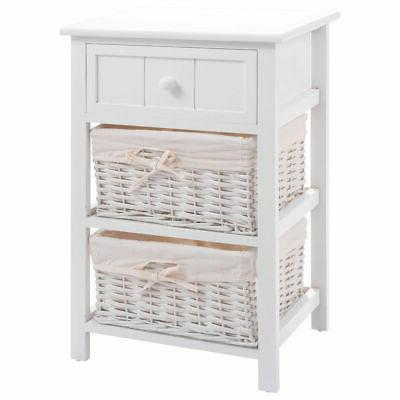 Night Stand 3 Layer 1 Drawer Bedside End Table Organizer Bed