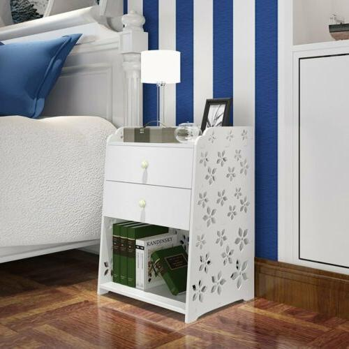 nightstand bedside end table 3 2 drawer