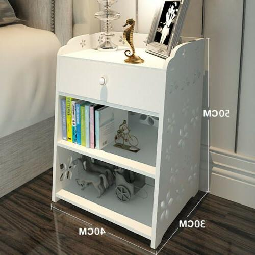 Night Stand Bedroom Table Layer Drawer Storage