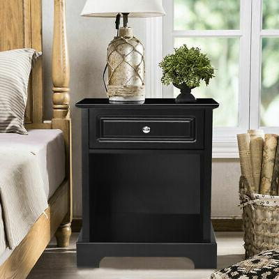 Night End Accent Table Sofa Side Black