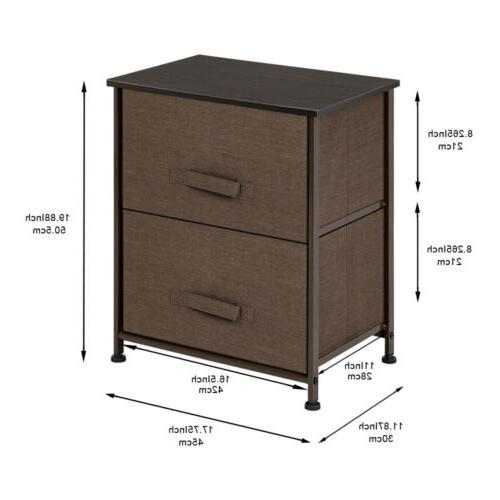 2 drawers night stand end table storage