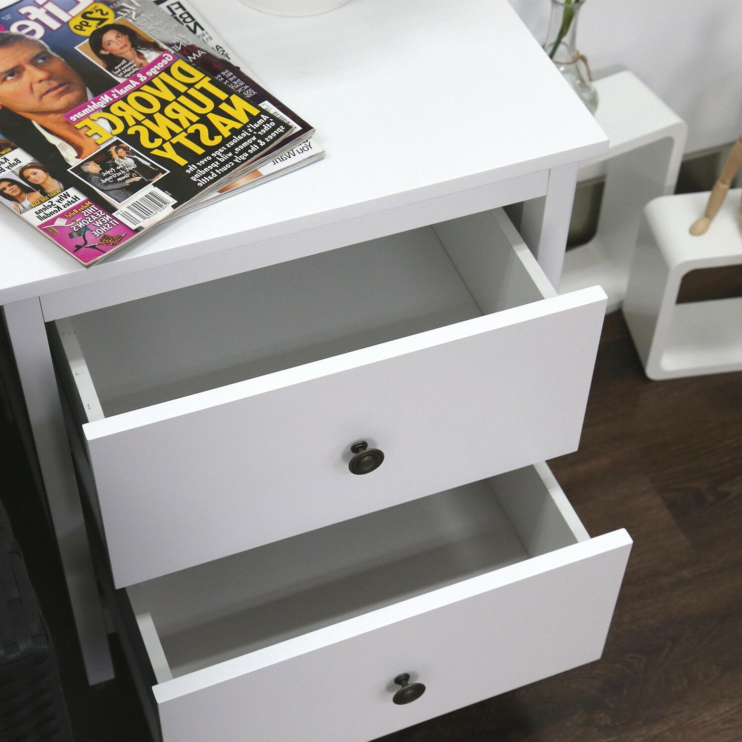 Nightstand Table Storage Night Cabinet,w/Drawers