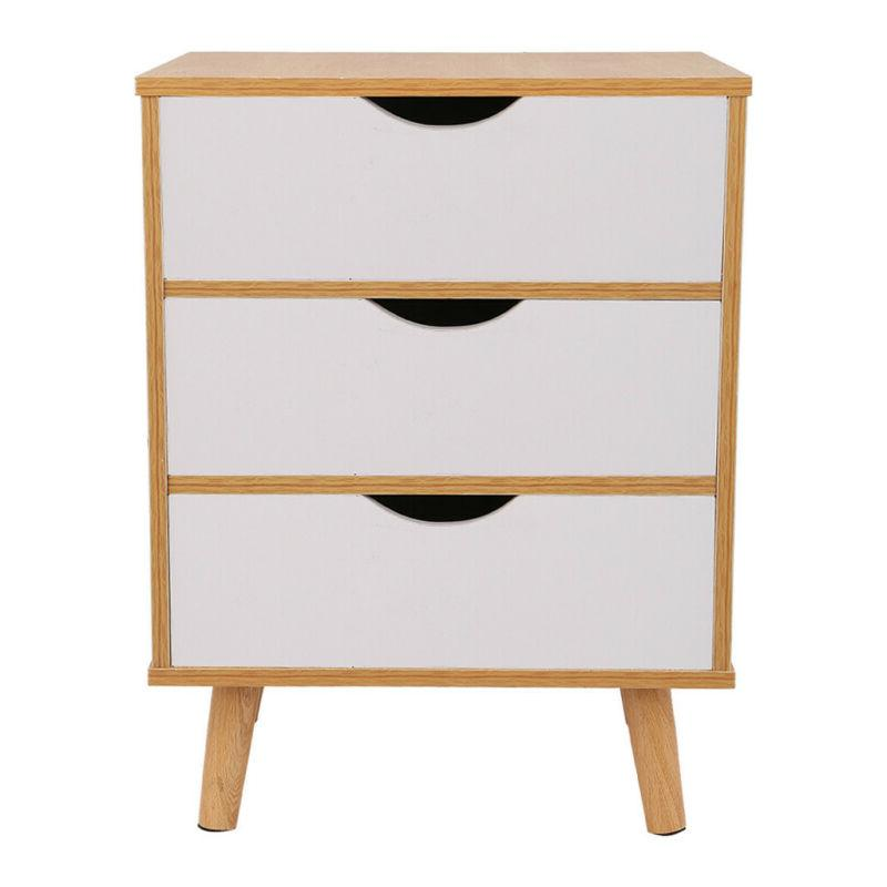 Nightstand Side Table Drawer Stand Storage Furniture