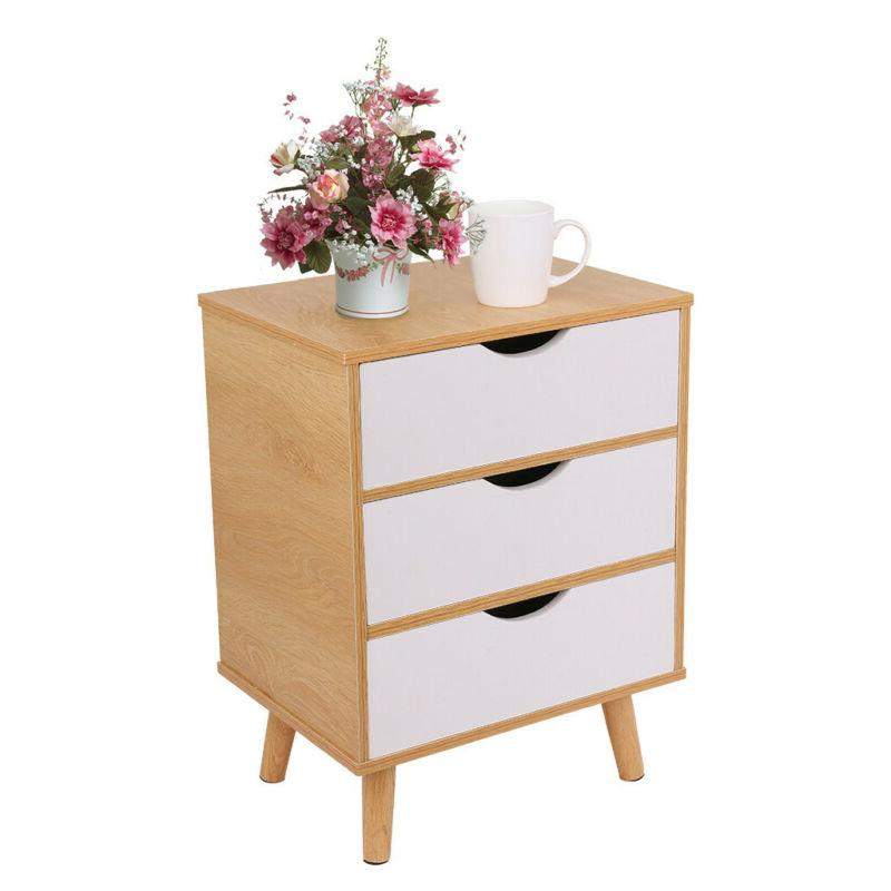 Nightstand End Side Drawer Stand Furniture