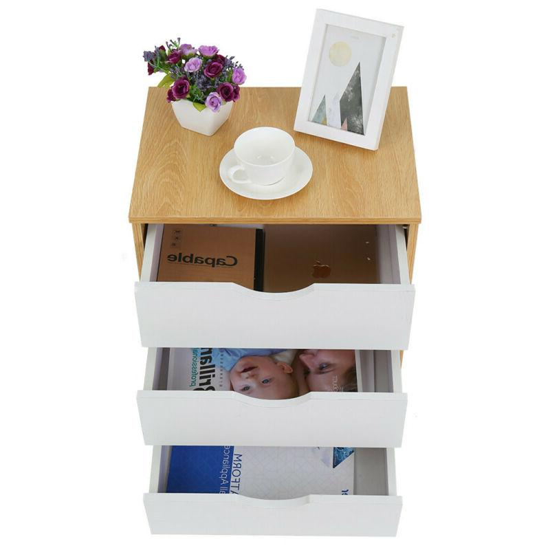 Nightstand Bedroom End Stand Furniture