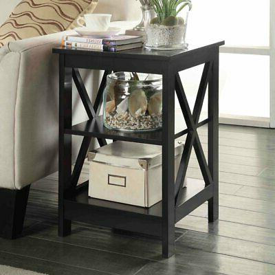 oxford square end table