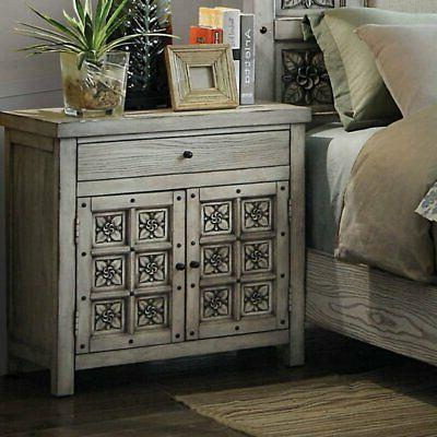 palermo rosette carved nightstand