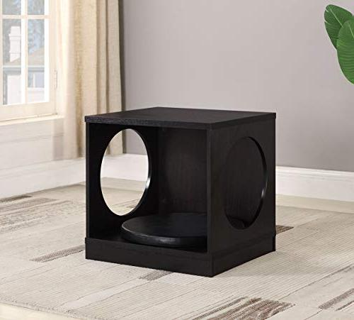 pet dog kennel crate side end table