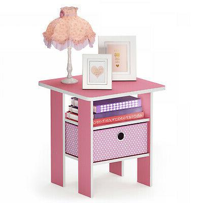 Furinno End Bedroom Night Stand Multiple
