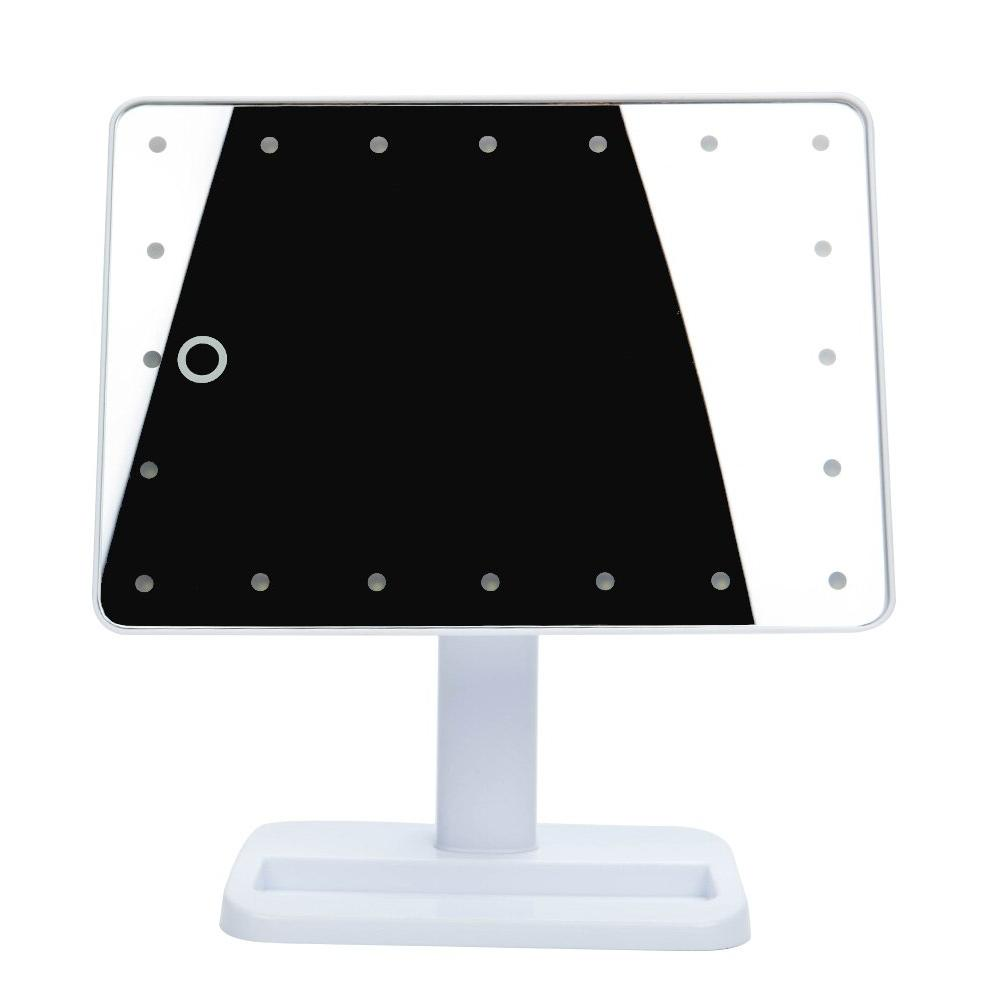 Portable 20 LED Touch Makeup <font><b>Mirror</b></font> with