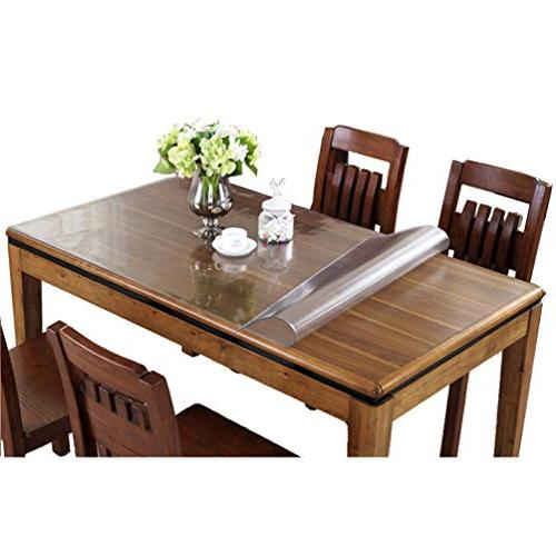 rectangle thick crystal clear table
