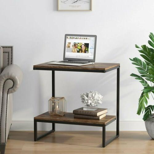 Rectangular Rustic End with Night Stand Room