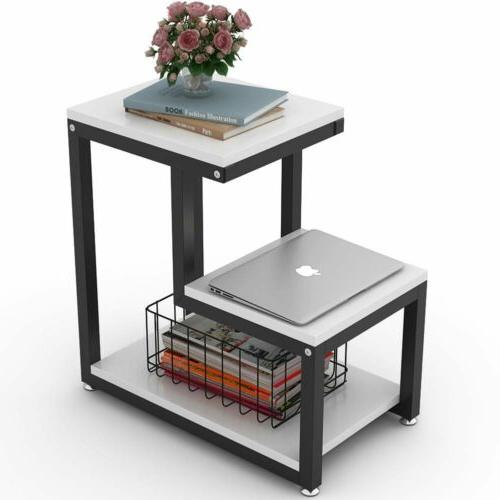 15.7'' End Side Table Night Stand Organizer with Storage She