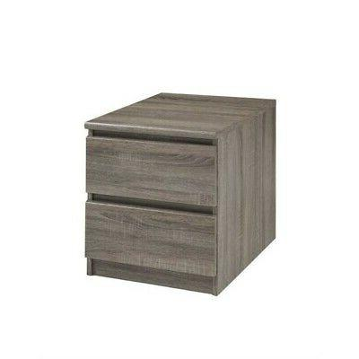 scottsdale 2 drawer nightstand oak