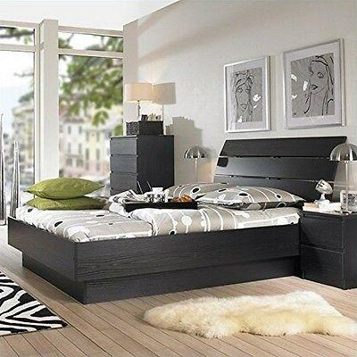 scottsdale platform bed black woodgrain