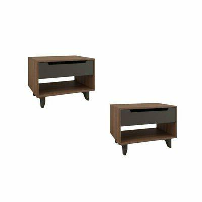 set of 2 modern night stand in