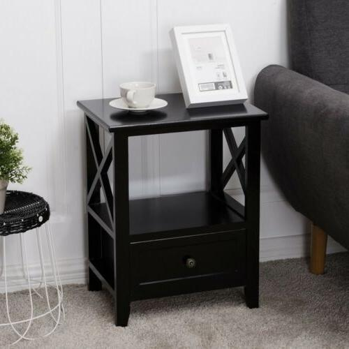 Set Sofa Table Nightstands Storage Drawer