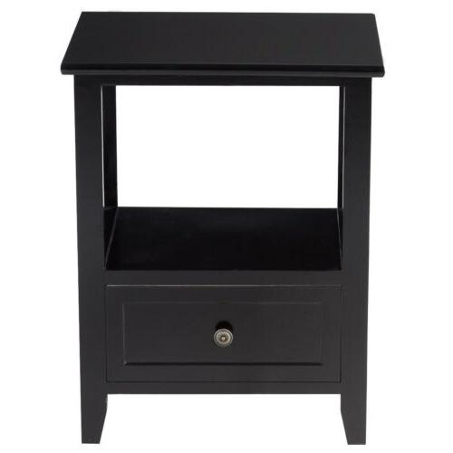 Set of Sofa End Side Table Nightstands w/ Drawer Bedroom