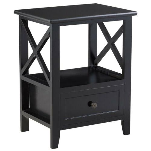 Sofa End Side Table Nightstands w/ Drawer
