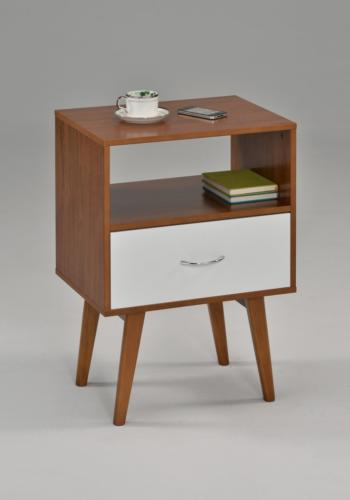 side end table nightstand with drawer shelf