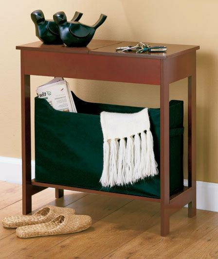 Side End Tables Accent Night Stand Furniture w/ Storage Bin