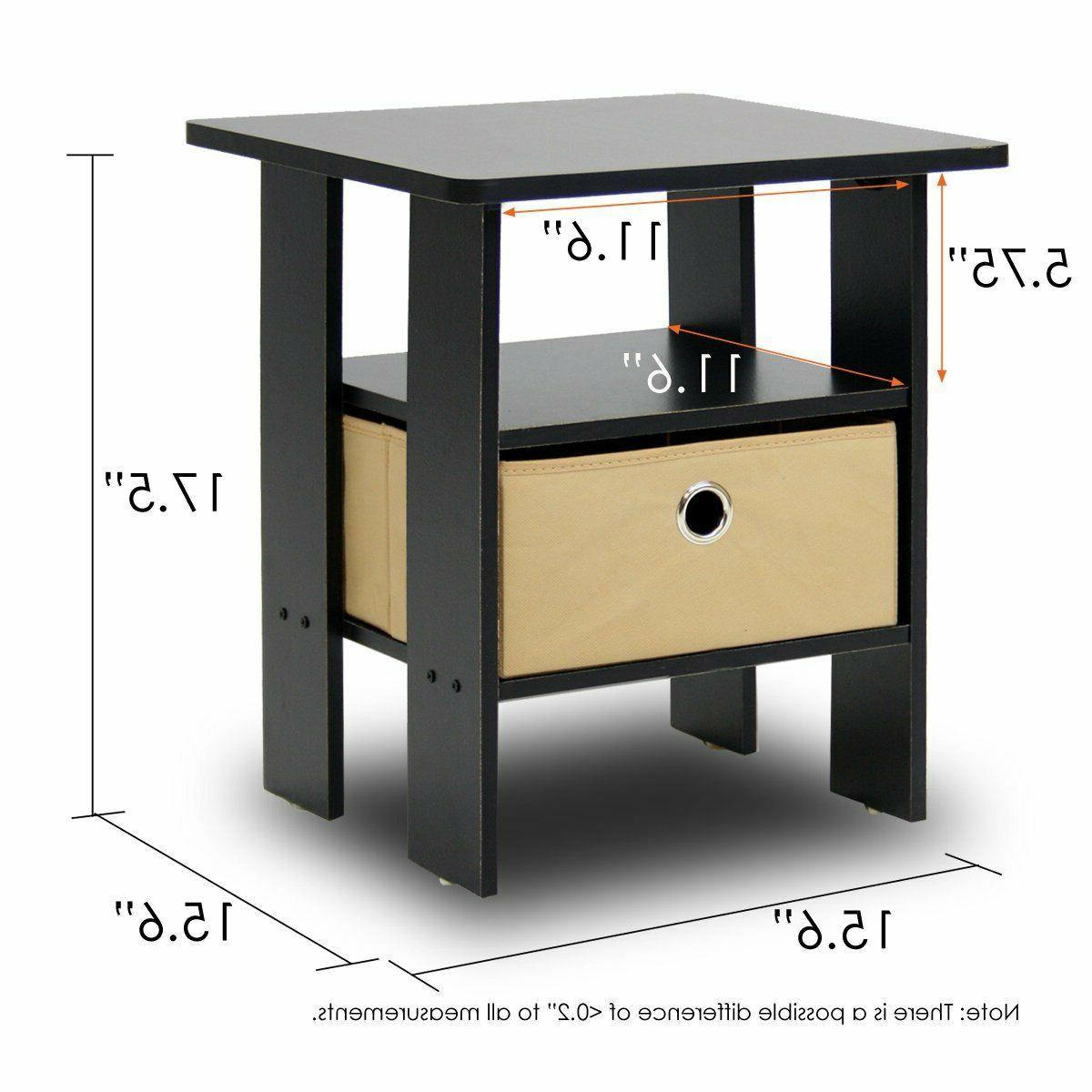 Side For Spaces Narrow Bedside End Tables Wood