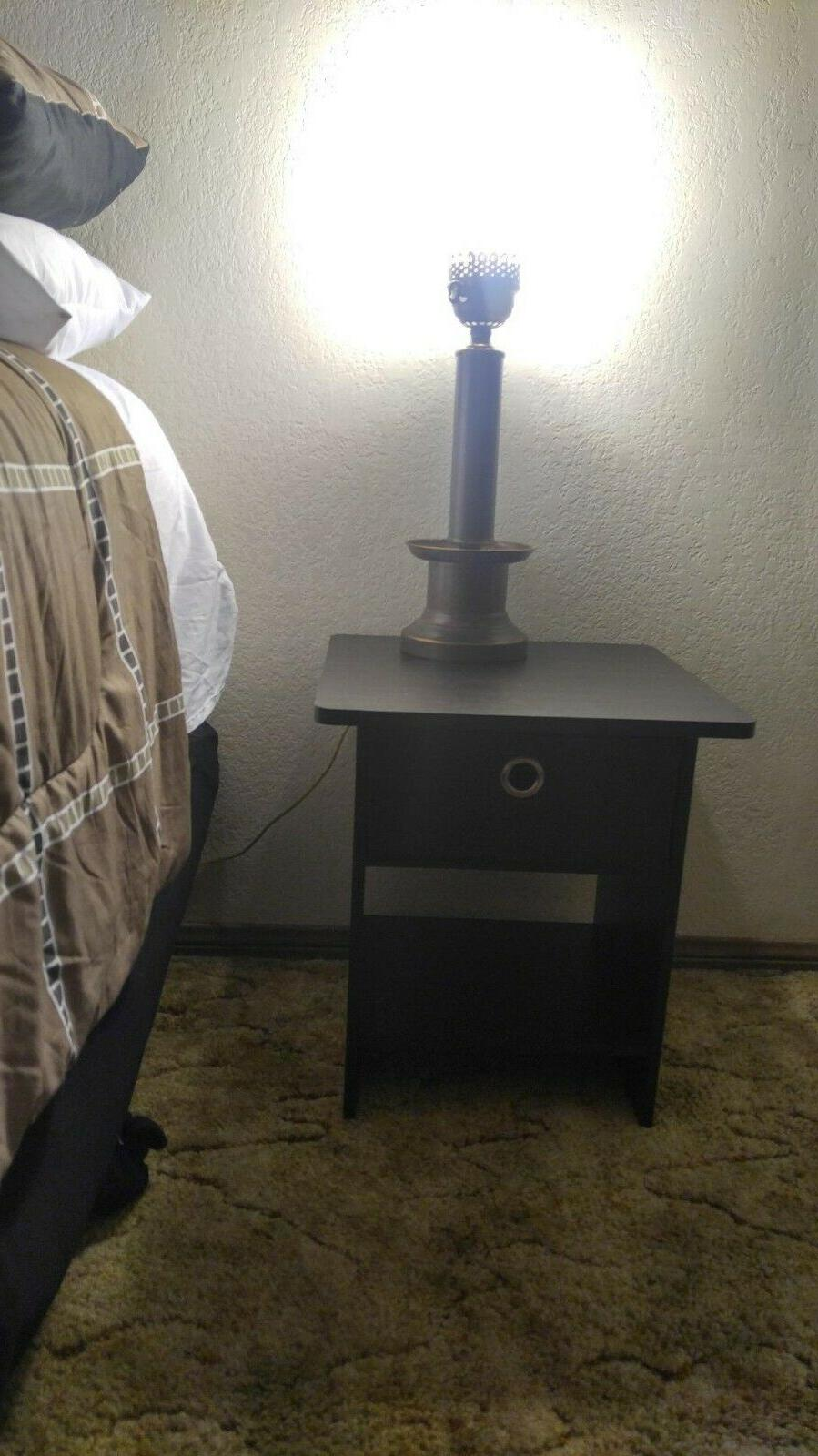 Side Table For Spaces Narrow End Bedside Wood