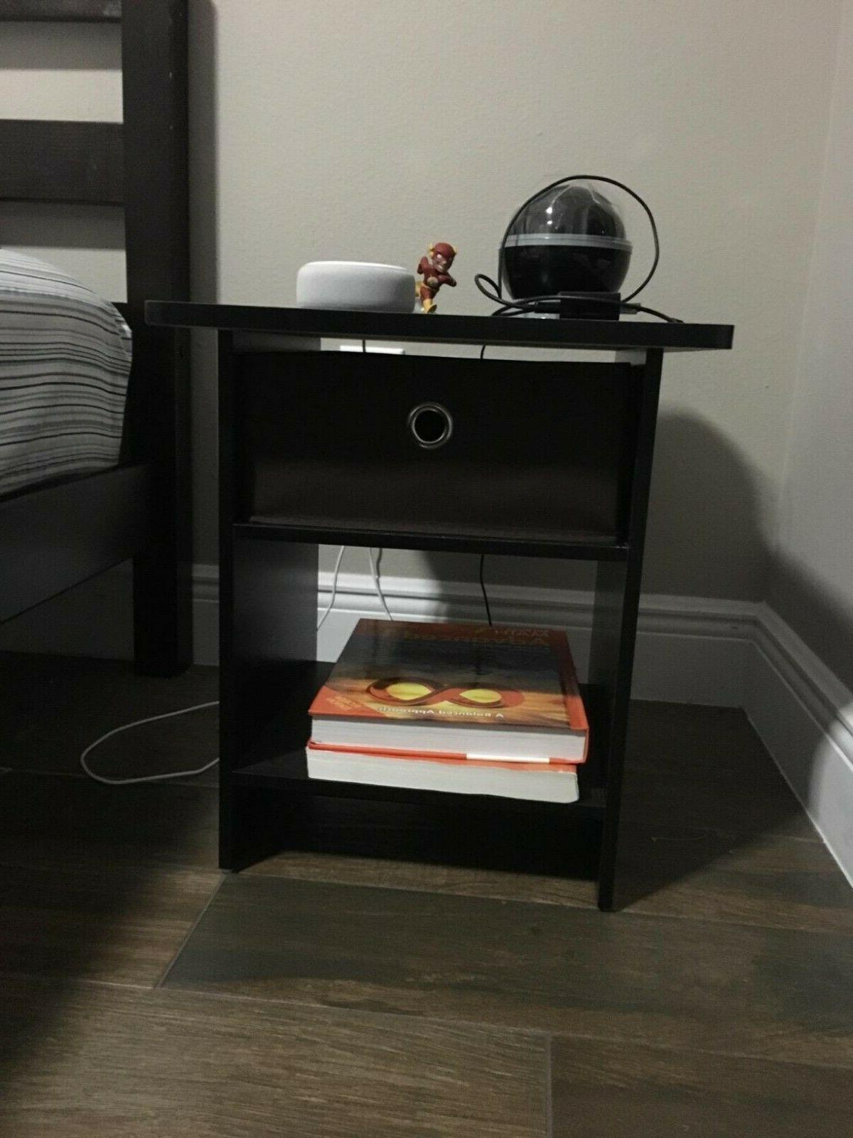 Side Table For Small Bedside Night Stand Accent Wood