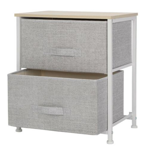 Sofa Bed End Table Room 2/3 Fabric Drawer US