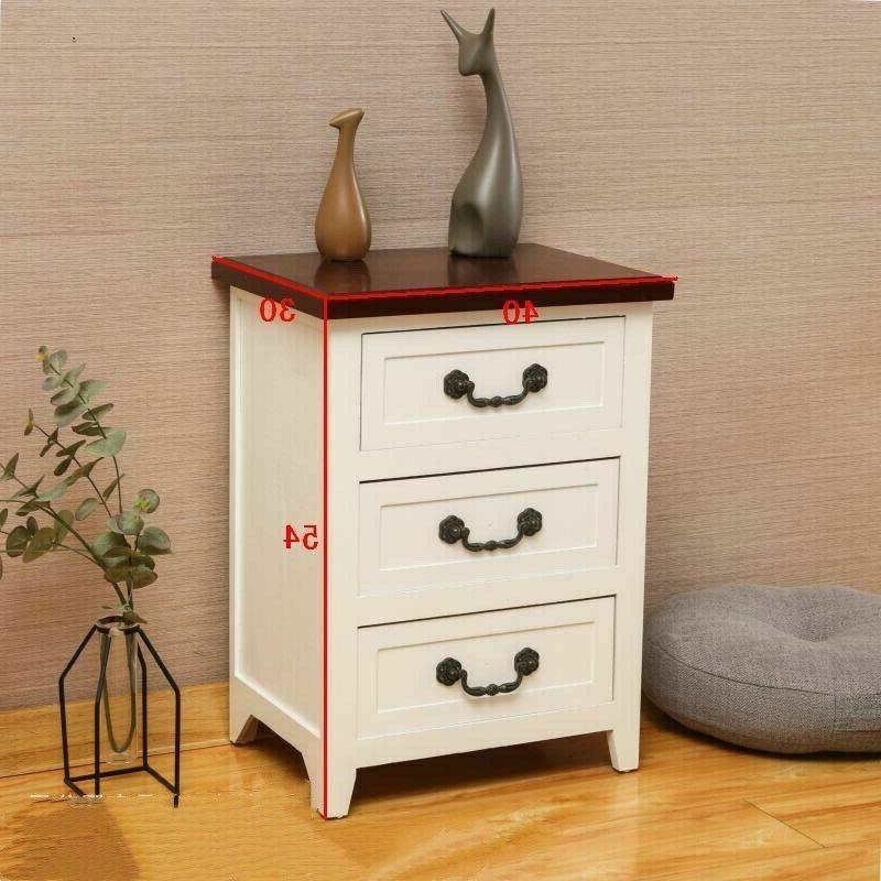 Solid 2 Tables Nightstand Organizer