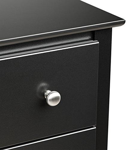Prepac Sonoma Nightstand Tall 3-Drawer Black