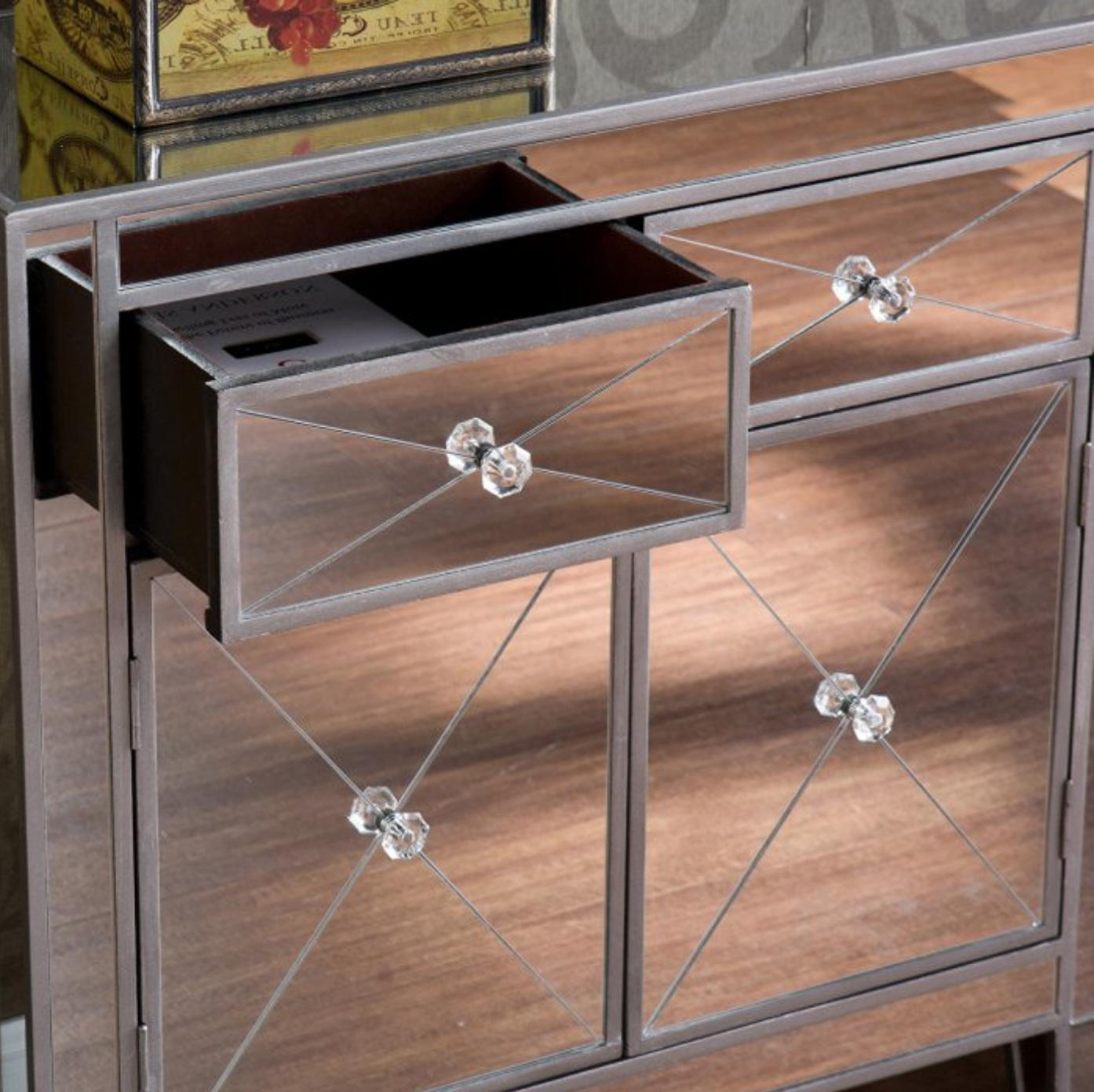 Southern Enterprises Mirrored Cabinet