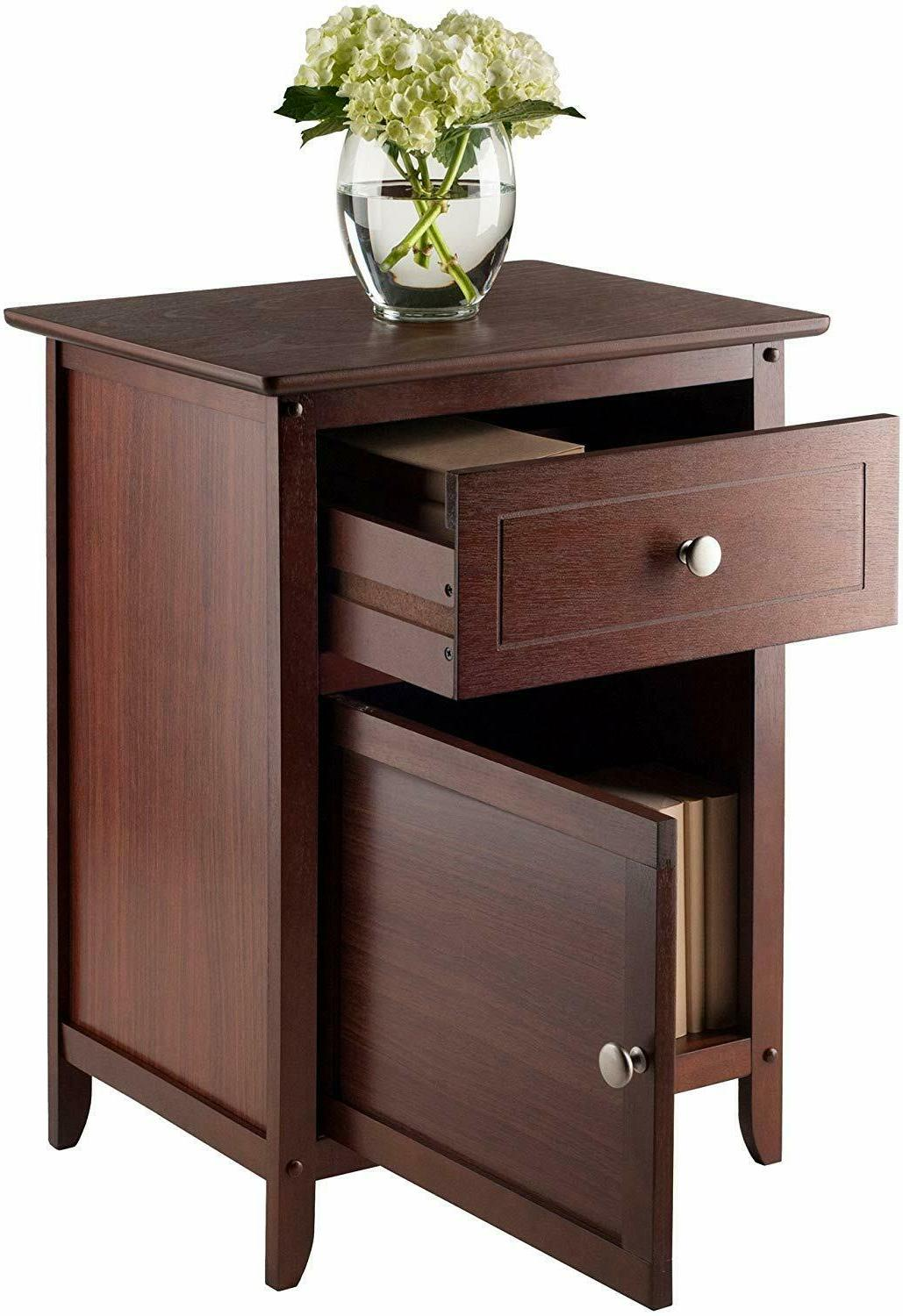 Bed Room Stand Storage Accent Table Finish