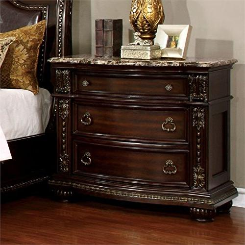 strout nightstand brown cherry
