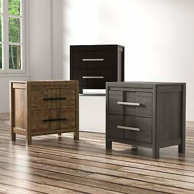 tass transitional solid wood 2 drawer 2