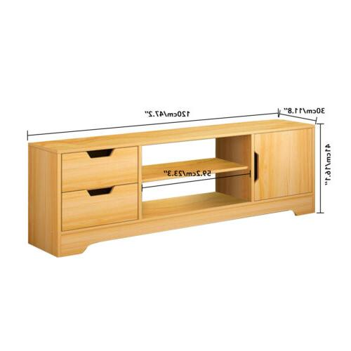 TV Wooden TV Cabinet Stand Unit Table With Cupboard