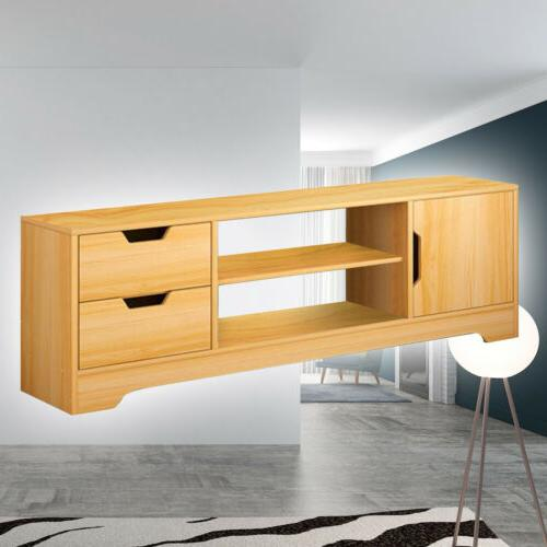 TV Stand Table Wooden Cabinet Stand Unit With Cupboard