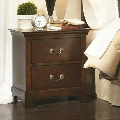 Two Drawer Night Stand in Espresso by Coaster