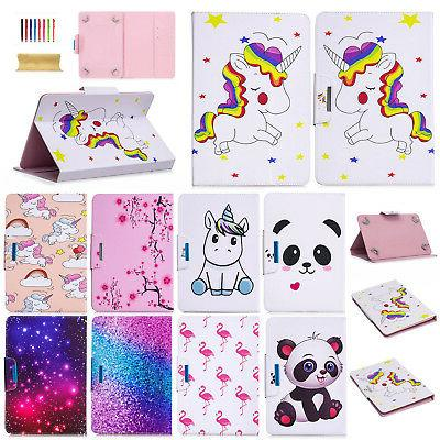 universal flip pu leather stand case cover