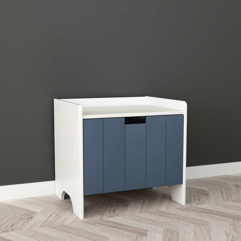 White and Dark Finish Room Side with Drawer for B