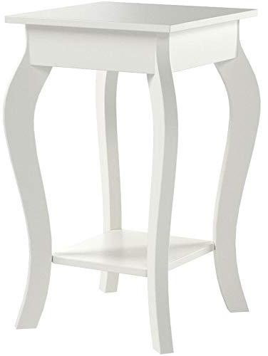 white finish curved legs accent